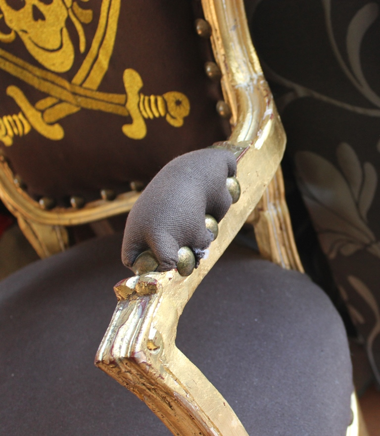 rarit t totenkopf barock stuhl skull spiegelburg antik rare deko ebay. Black Bedroom Furniture Sets. Home Design Ideas